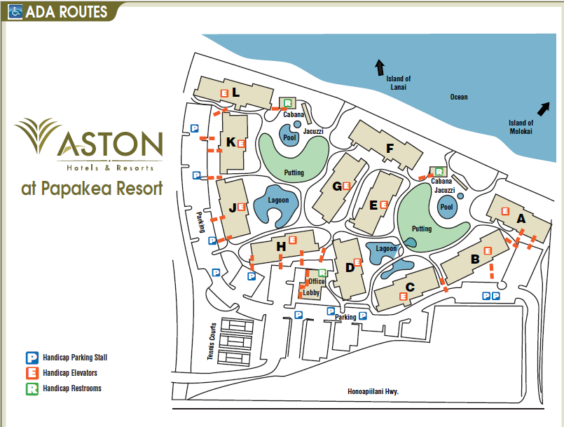 Papakea Resort Map Aston at Papakea   Property Map
